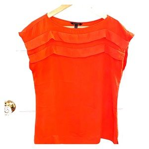 Bright Coral Red Banana Republic Top